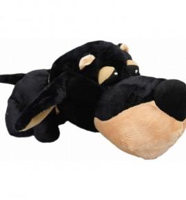 Черная собака с большой головой