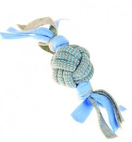 Флисовый веревочный шар синий маленький