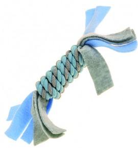 Флисовая веревочная катушка синяя маленькая