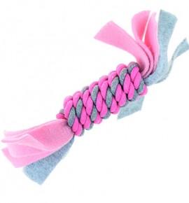 Флисовая веревочная катушка розовая маленький